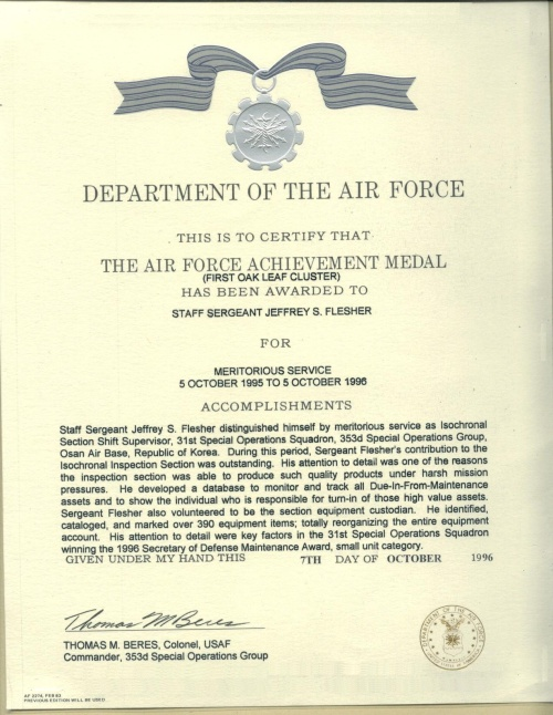 About vets help center for Air force decoration citation